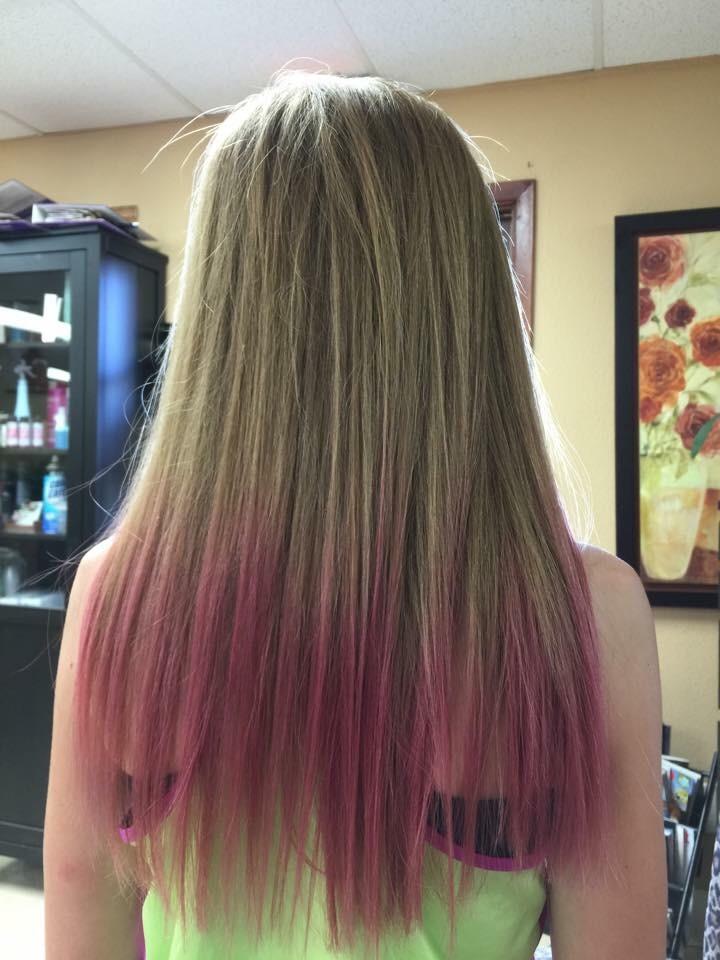 Dip dyed pink