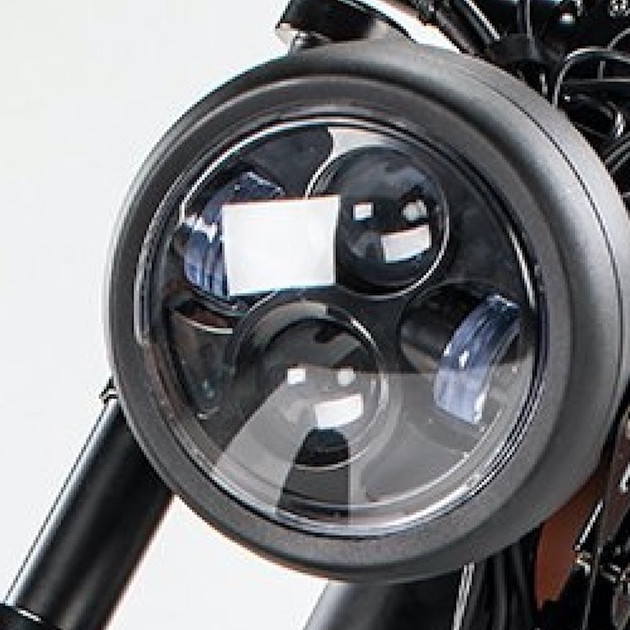 Powerful LED headlight with low and full beam settings