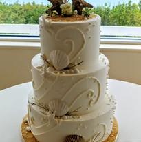 Swirls and Starfish Seashells wedding ca