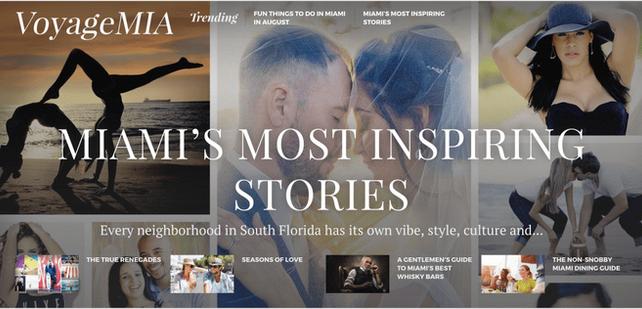 Voyage MIA Magazine Article feature