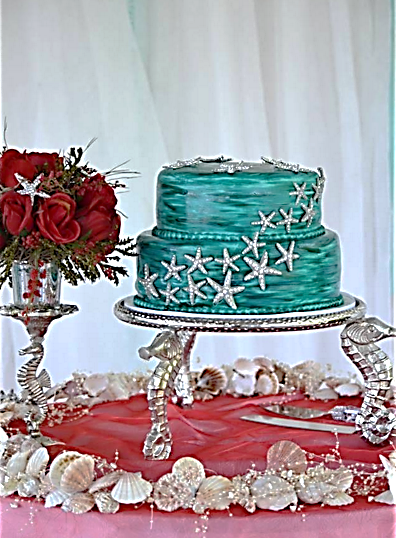 Turq and Silver Seahorse cake.png