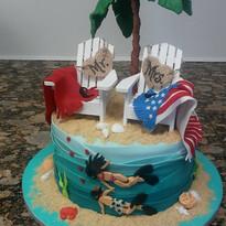 Beach Divers Small Wedding cake.jpg