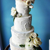 Textured Buttercream wedding cake_#weddi