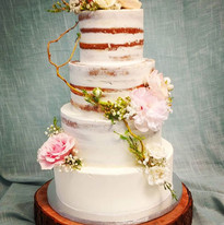 This beautiful half naked wedding cake i