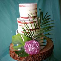 Island style Naked cake_#Nakedweddingcak
