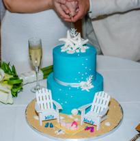 Turqoise Wedding cake Baby and Beach Cha
