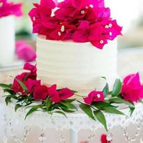 Fushia Flowers Personal sized wedding ca