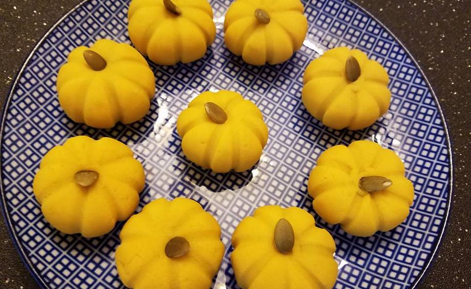 Kabocha Pumpkin Mochi