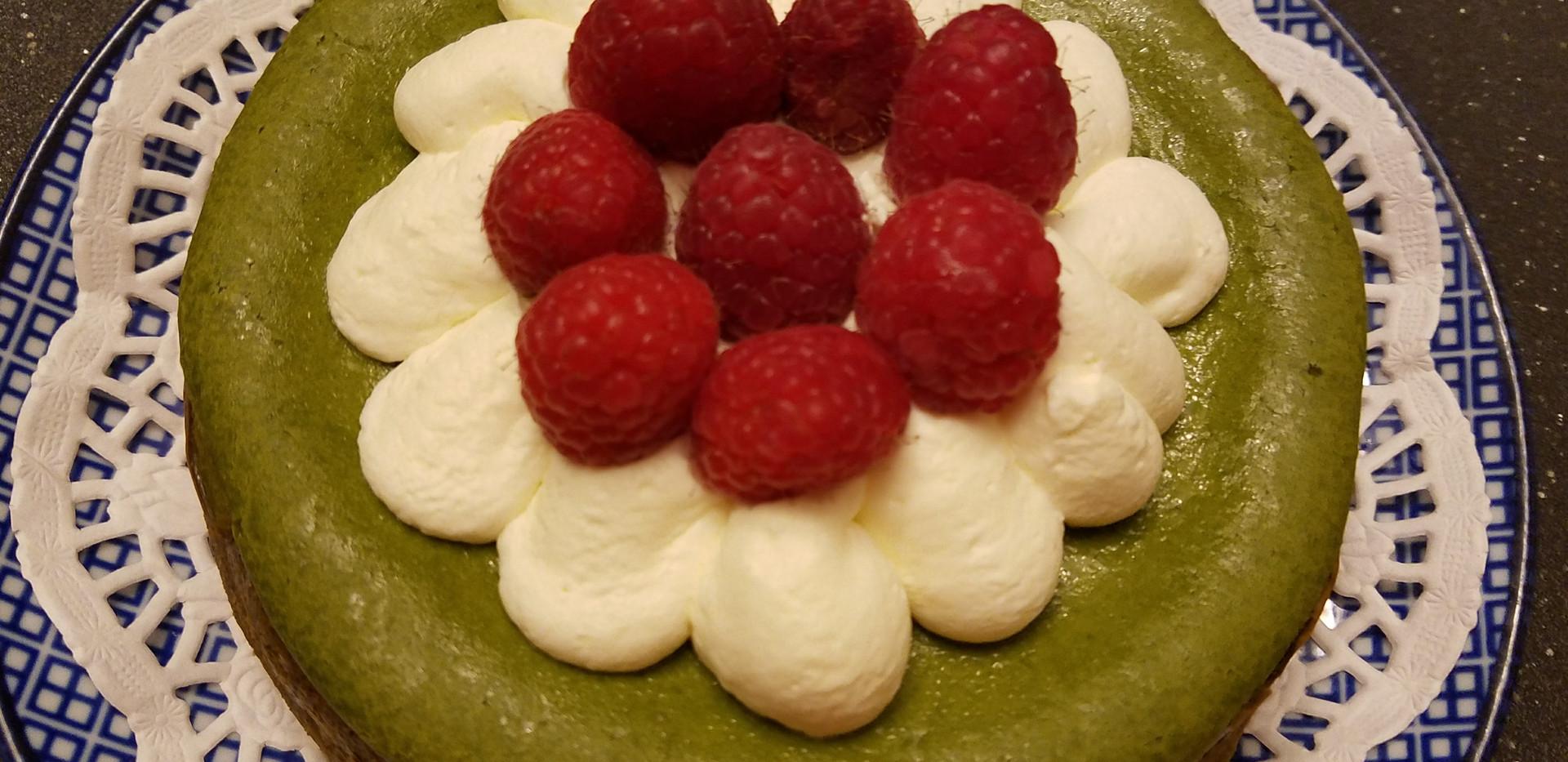 Small Matcha Cheesecake