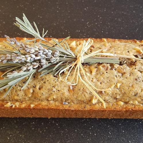 Earl Grey Lavender Walnut Cake