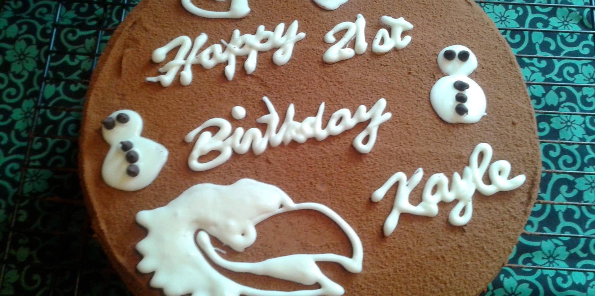 Custom Birthday Cake with Cocoa