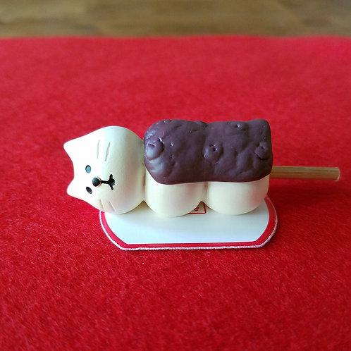 Mochi neko_red sweet bean dango cat