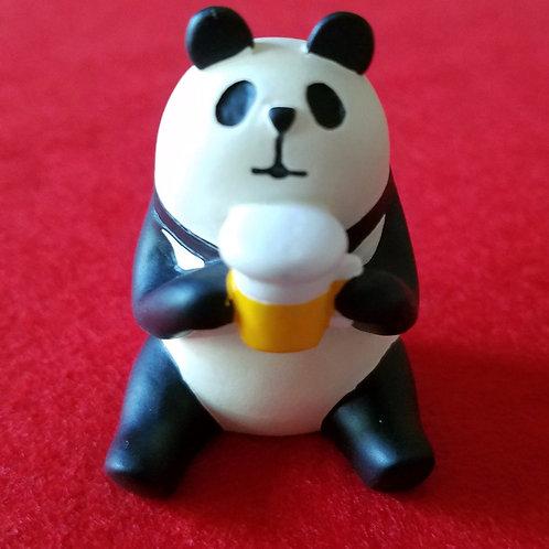 Panda holding a beer mug