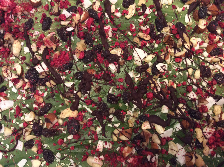 Matcha Chocolate Trailmix Bark