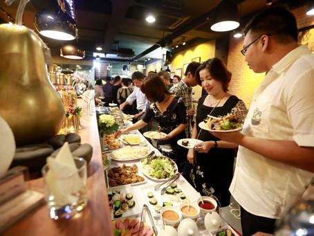 Nơi đặt tiệc buffet riêng tư dành cho các buổi tiệc thân mật.