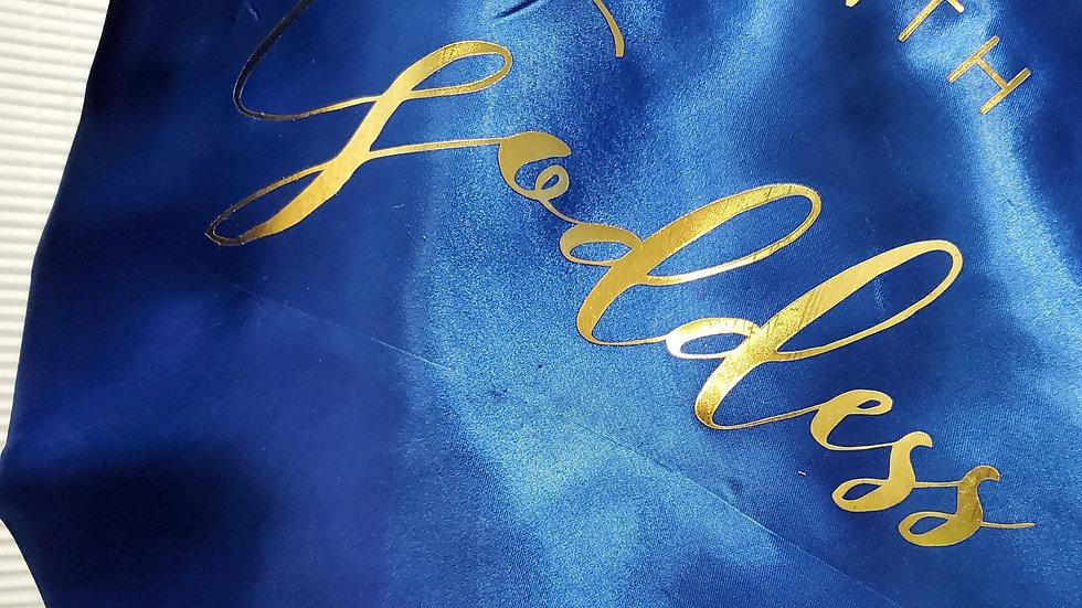 Blue Hair Bonnet