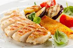 chicken breast con vegetales