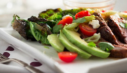 churassco with salad