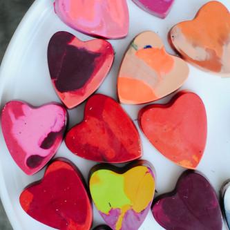 Crayon Valentines DIY