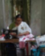 1. Sapna Saikia sewing and stiching mask