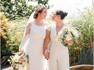 Hannah and Zoie's Chic August Wedding!