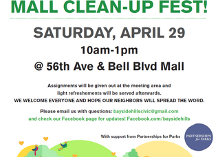 Mall Clean up event on April 29