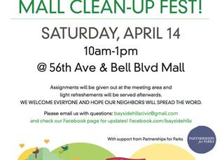 Mall Clean-up Fest! Sat, April 14th 10am - 1pm
