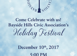 Come Celebrate with us! Bayside Hills Civic Association's Holiday Festival