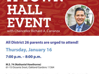 Town Hall Meeting with Chancellor Carranza