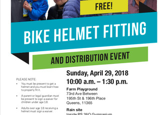 Bike Helmet Fitting and Distribution Event