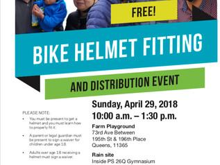 Bike Helmet Fitting and Distribution Event