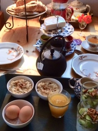 Ontbijt in Huisje Bloem