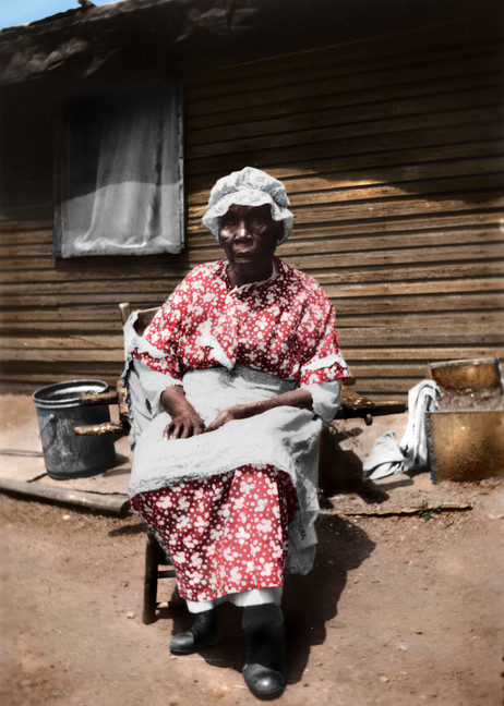 Portrait of Julia Williams Wadsworth, ex-slave, 1937.