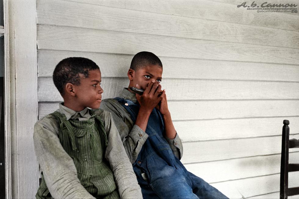 Great Depression era Children of a Sharecropper