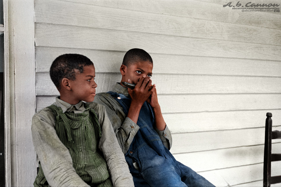 Great Depression era Children of a Sharecropper, 1935