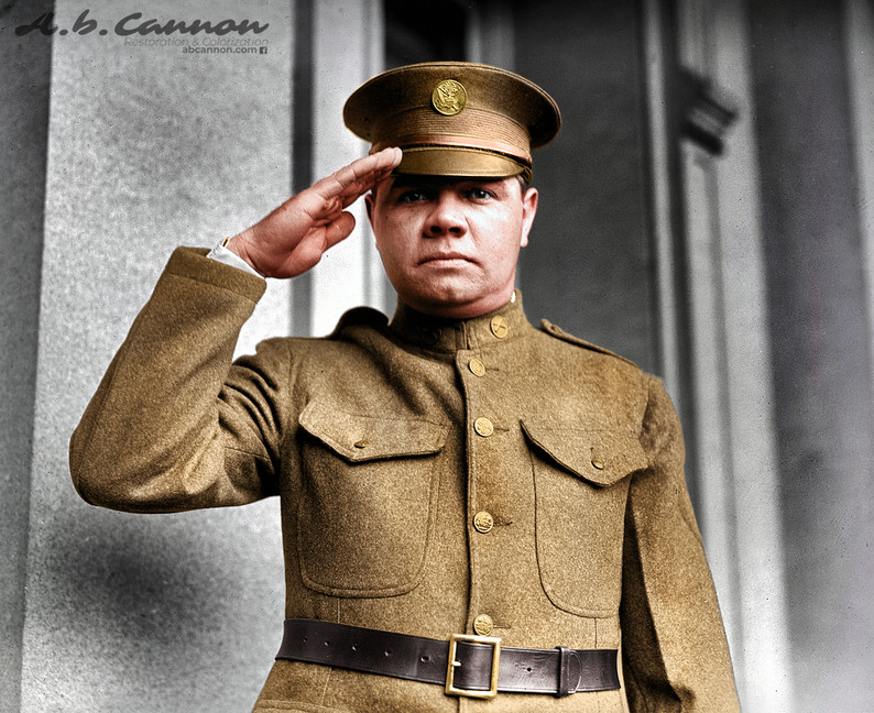 Babe Ruth after enlisting in the National Guard, 1924