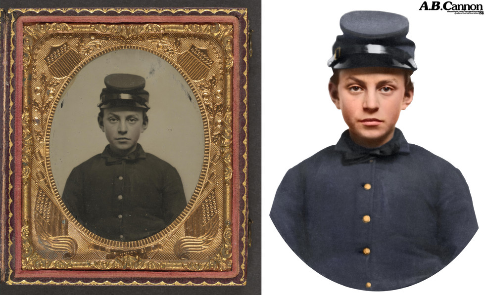 Unidentified young soldier in Union uniform and forage cap