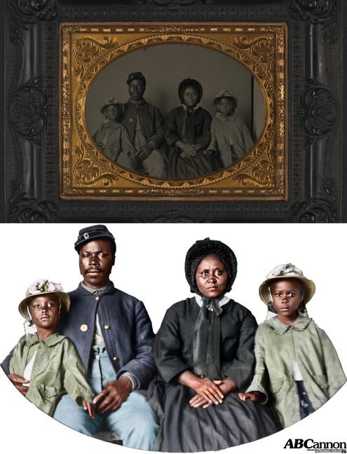 Family of Civil War soldier, circa 1864