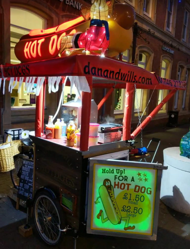 Hot Dog Bike Lit Up!