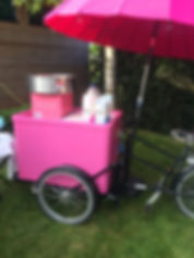 Pink Cand Floss Bike Hire