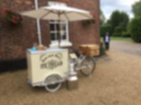 Ice Cream Bike Hired at Hadley park house hotel