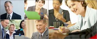 Montage women in meeting