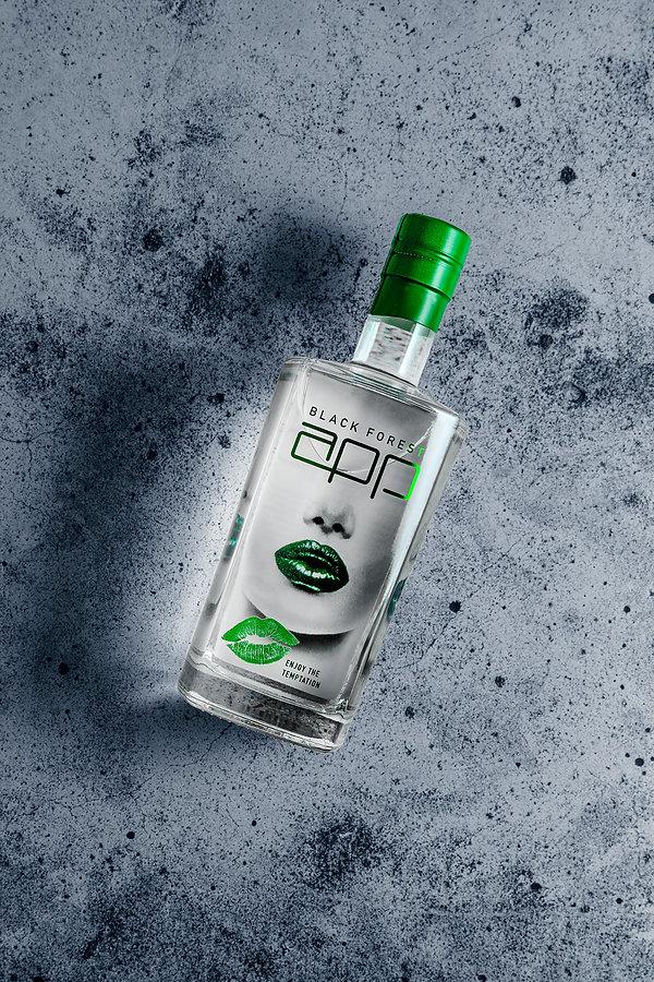 Fotografie einer Gin Flasche