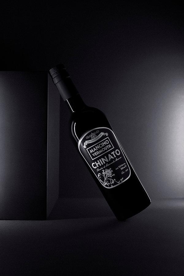 Fotografie einer Flasche Getränkeflasche Wermut