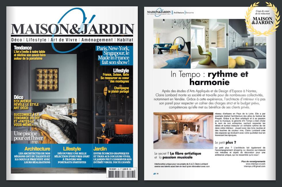 Publication Maison & Jardin