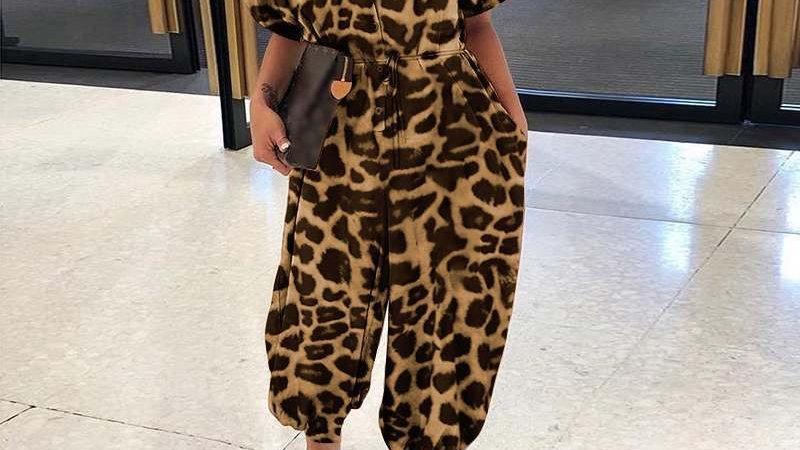 LooBees Leopard Print Jumpsuit