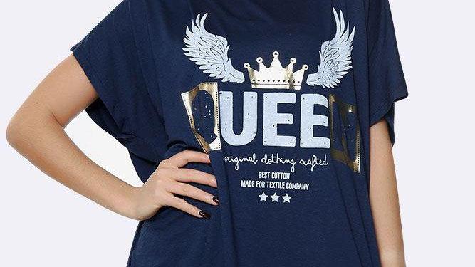 Italian Angel Queen Motif Top
