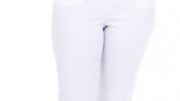 Pinns Figure Sculpting Bengaline Crop Trousers With Diamond Eyelets