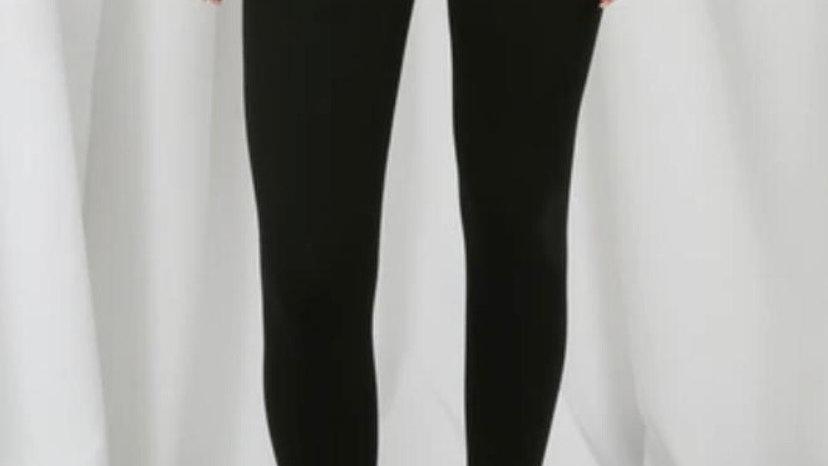 High Waisted Tummy Control Leggings in Black