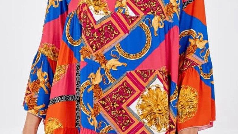 Multicoloured Smock Dress